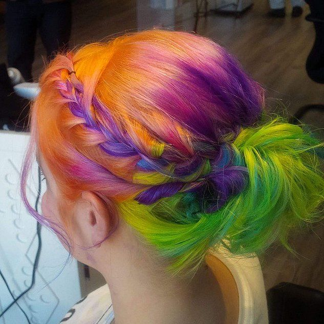 Rainbow Hair Braid Ideas | POPSUGAR Beauty