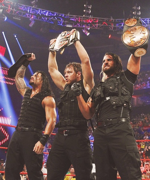 The Shield. So good to have a good faction going on in the wwe again. Hopefully they don't break them up to soon.