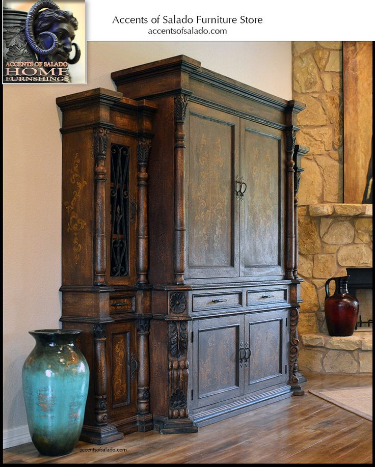 Old World Media Entertainment Cabinet Old World Tuscan Living Room Furniture