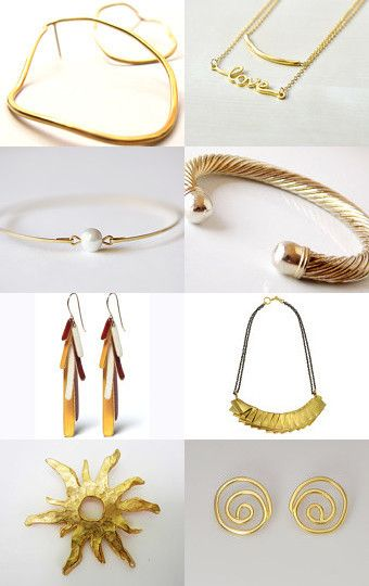 gold by Matylda Mika on Etsy--Pinned with TreasuryPin.com