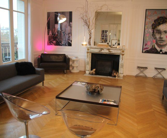 Photo Deco : Salon   Moderne   Appartement Haussmanien Epure