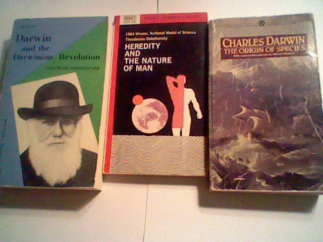 Lot of Evolution books: Darwin,Origin of the Species, Heredity & Nature of Man