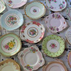 Large Vintage Cake Serving Plates