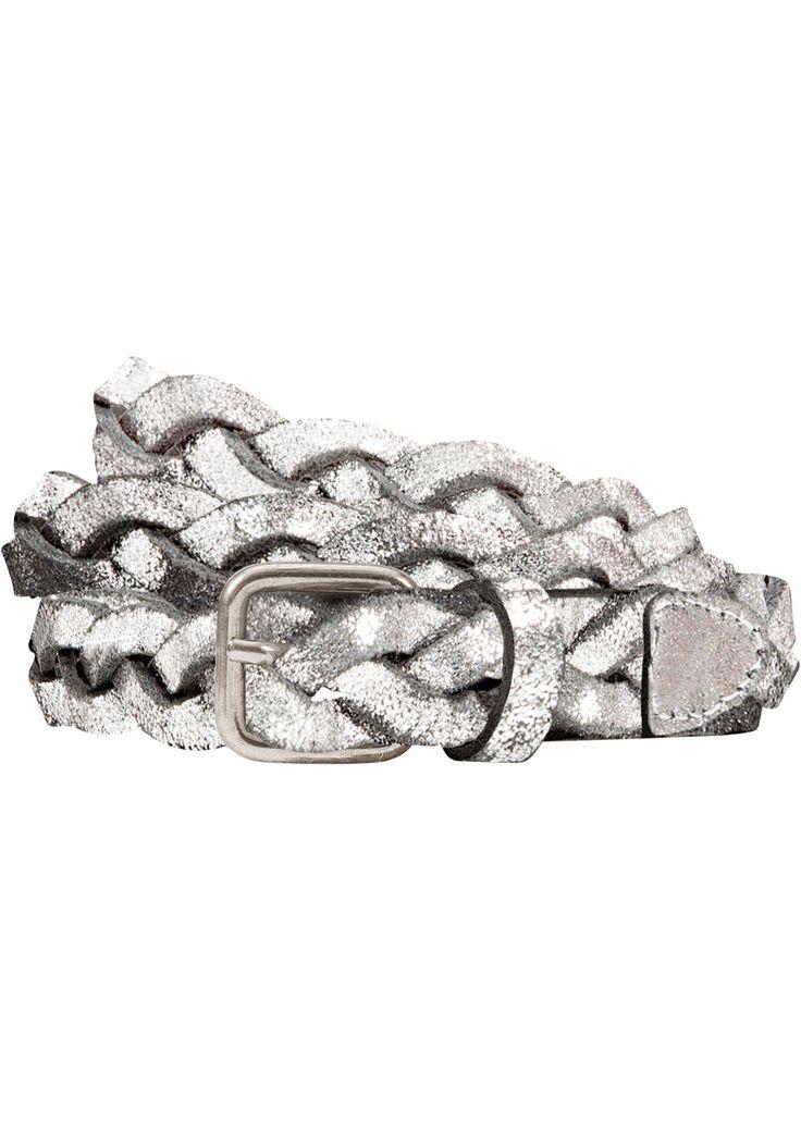Lockern Sie Ihr Outfit mit diesem geflochtenen Ledergürtel in Metallic Silber auf. Der verspielte Gürtel besticht mit seiner hohen Qualität und einem alltagstauglichen Design.