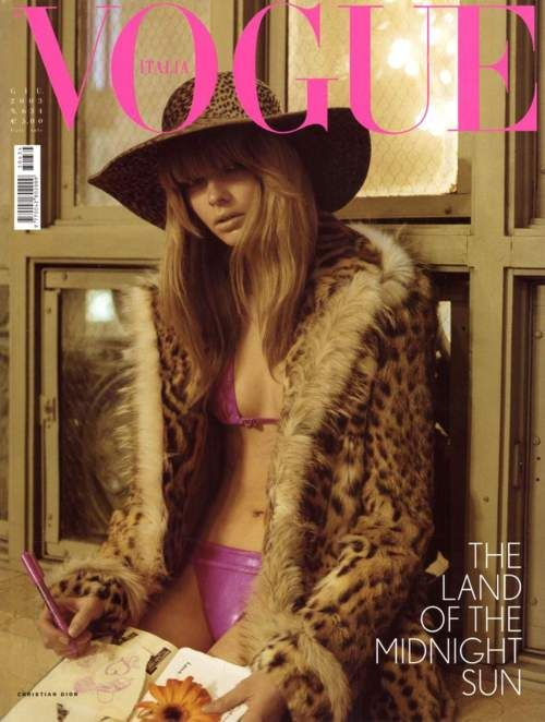 Vogue Italia June 2003, Julia Stegner: Julia Stegner, Italian Vogue, Italian Vogue, June 2003, Leopards, Covers Girls, Italia June, Magazines Covers, Vogue Covers