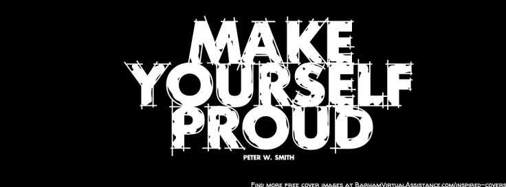 Make yourself proud freebie facebook timeline cover