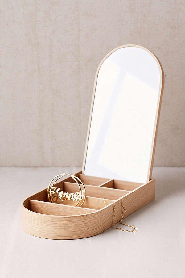 Slide View: 1: Menu Wooden Jewelry Box