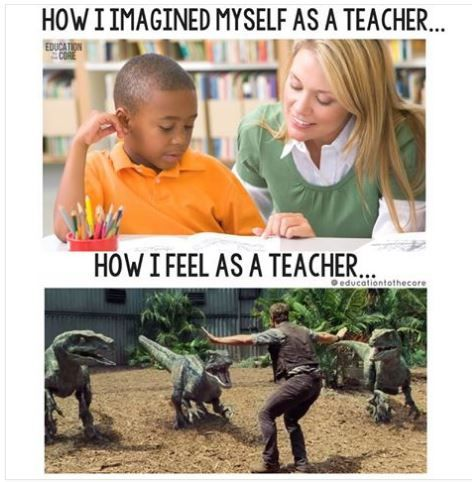 How I imagined myself as a teacher...