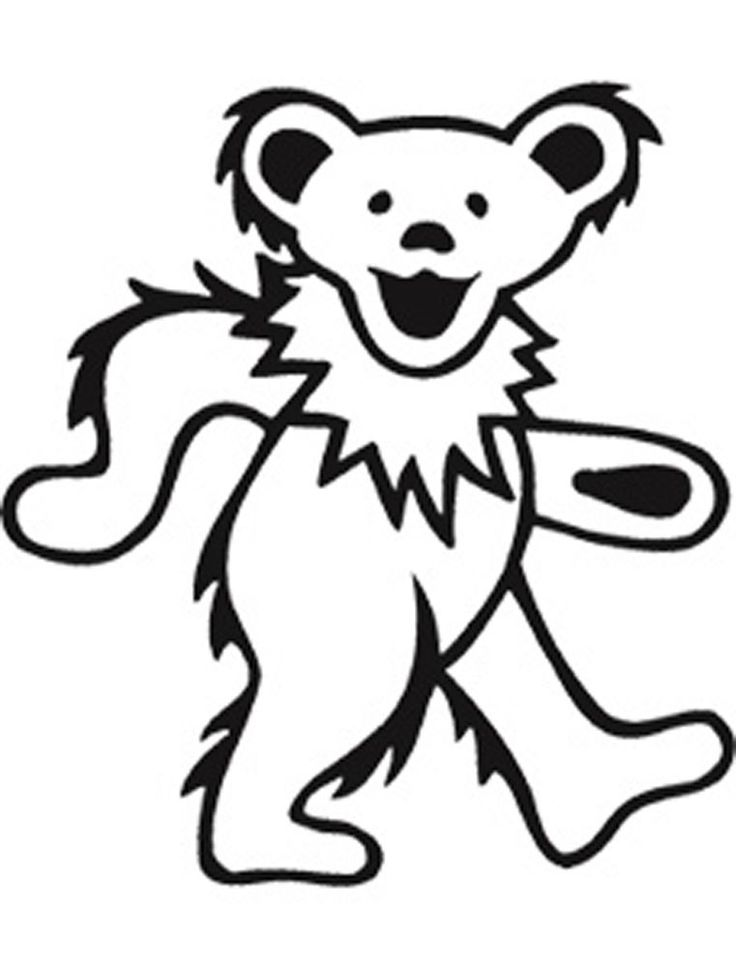 dancing bears grateful dead clip art | the grateful dead Colouring Pages (page 2)
