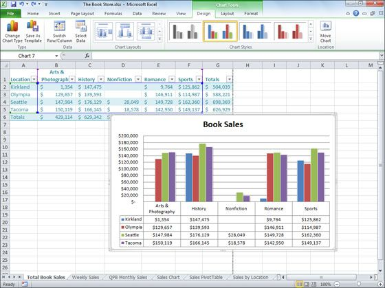 Microsoft Excel 2010 Screenshots