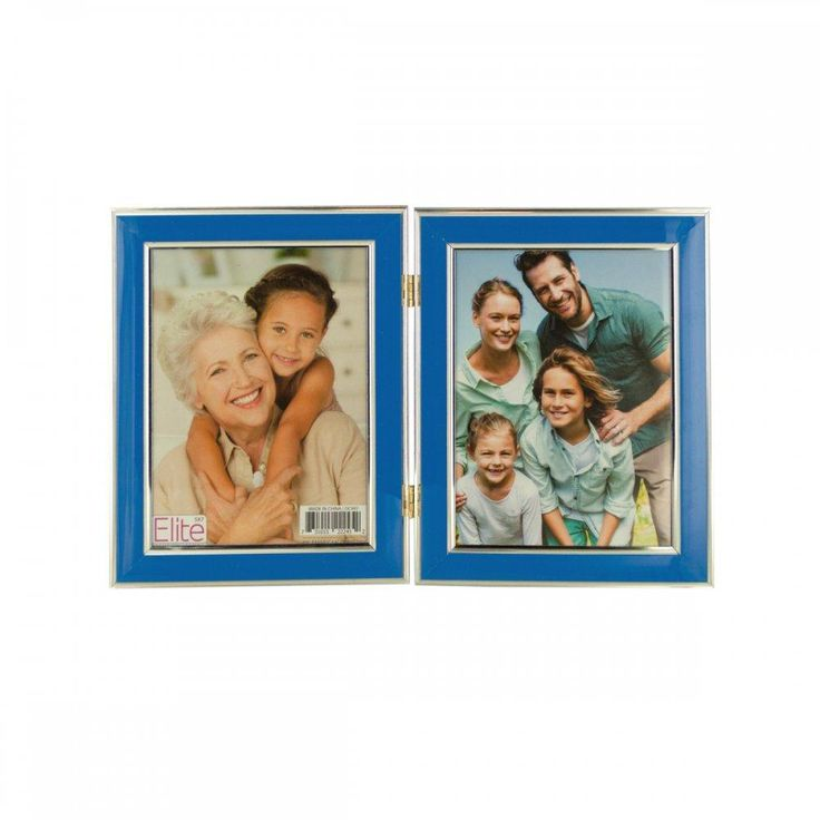 Colorful Hinged Double Photo Frame