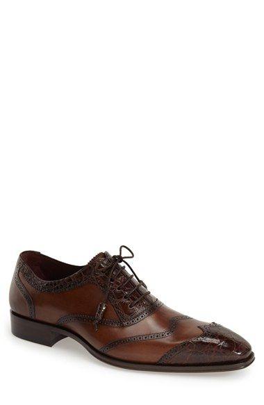1930s style mens two tone shoes.  Mens Mezlan Munich Spectator Shoe Size 12 M - Brown $595.00 AT vintagedancer.com