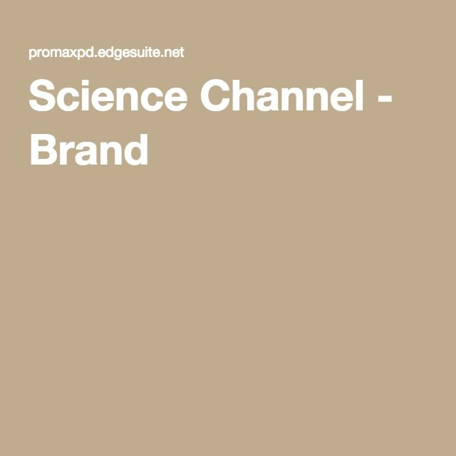 Science Channel - Brand