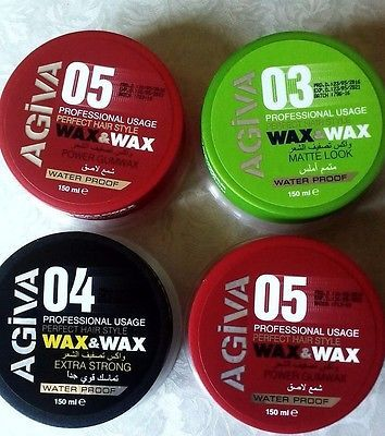 AGIVA-WAX-WAX-Professional-MATTE-LOOK-WET-STRONG-EXTRA-Str-HAIR-WAX-150ml
