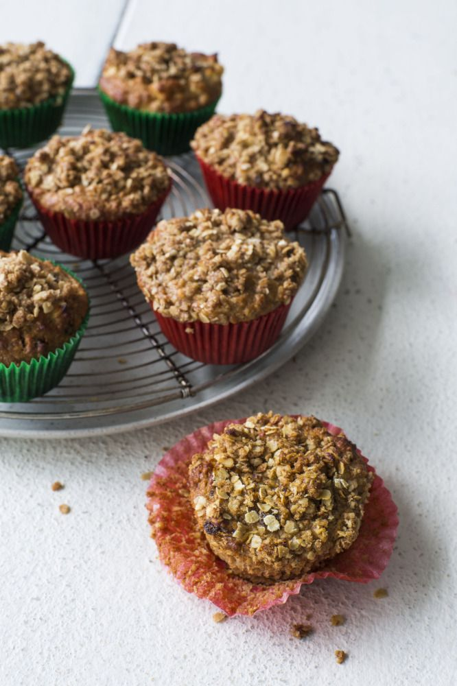 Oaty Apple and Sultana Muffins