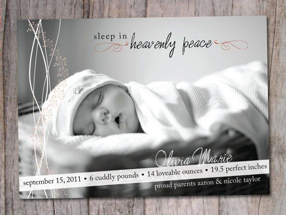 Perfect Christmas card / Birth Announcement..love the wording. Cute Etsy shop products