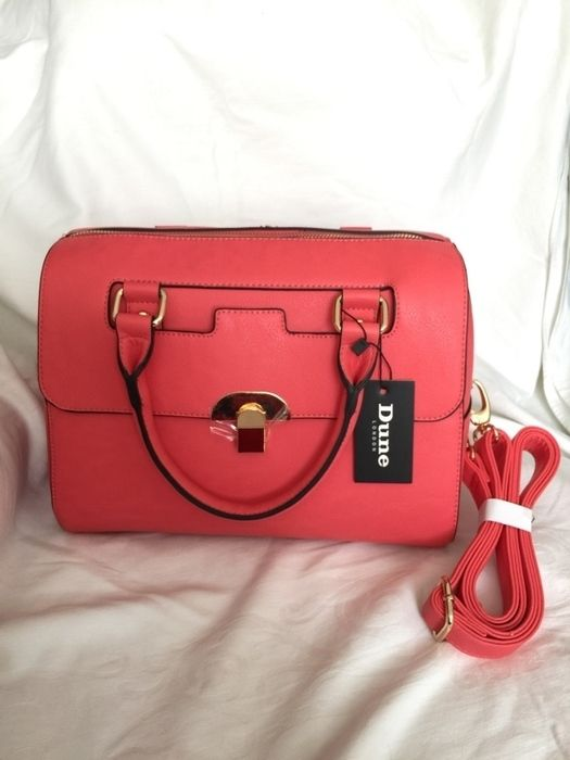 £65 Coral Bowler bag BNWT by Dune RRP £75  Purchase now on Vinted!