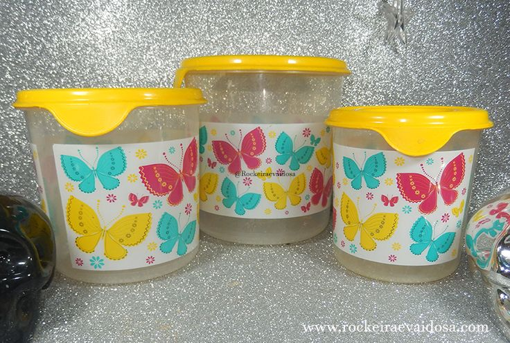 Plasvale utensílios domésticos, potes de Borboleta