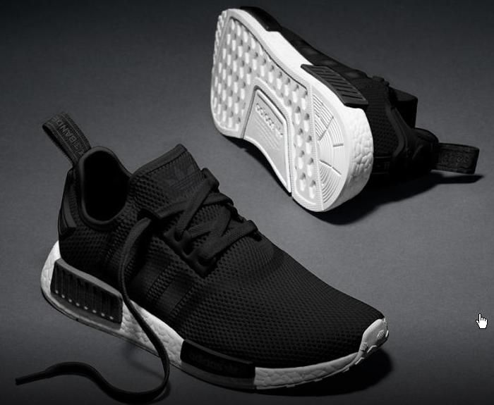 The adidas NMD Mesh Monochrome Pack is made up of two tonal mesh offerings  coming in either black or white ( cheap adidas NMD shoes ).