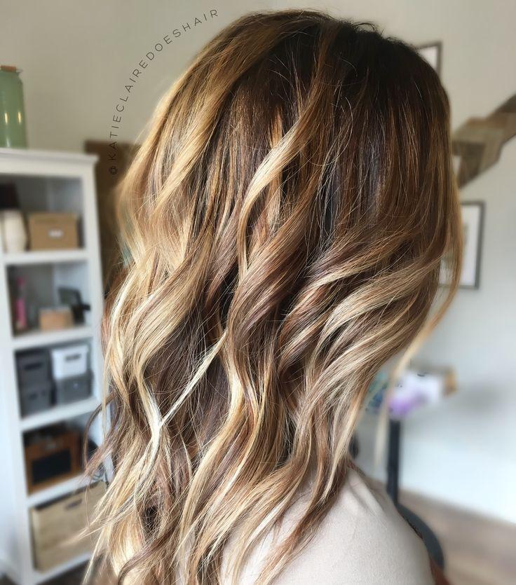 Warm Balayage Golden Blonde Brown Hair Bronde