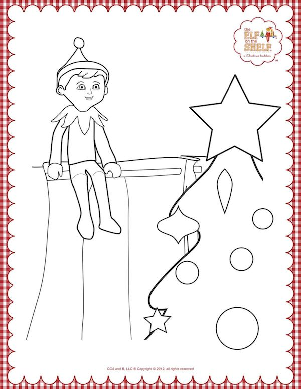 139 best christmas coloring pages images on pinterest for Elf on the shelf coloring pages