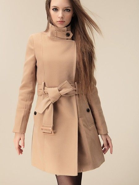 $45.98 / Women's Coats Tailored Collar Zipper Button Woolen Coat via martEnvy. Click on the image to see more! / FREE SHIPPING