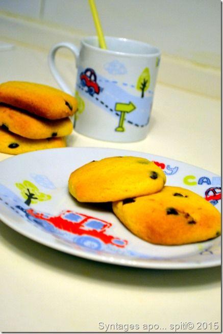 Syntages...apo spiti: Νηστίσιμα μπισκότα πορτοκαλιού με σταγόνες σοκολάτ...