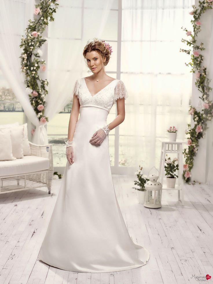 Robes de mariée Mademoiselle Amour, modèle Mlle Raphia http://www ...
