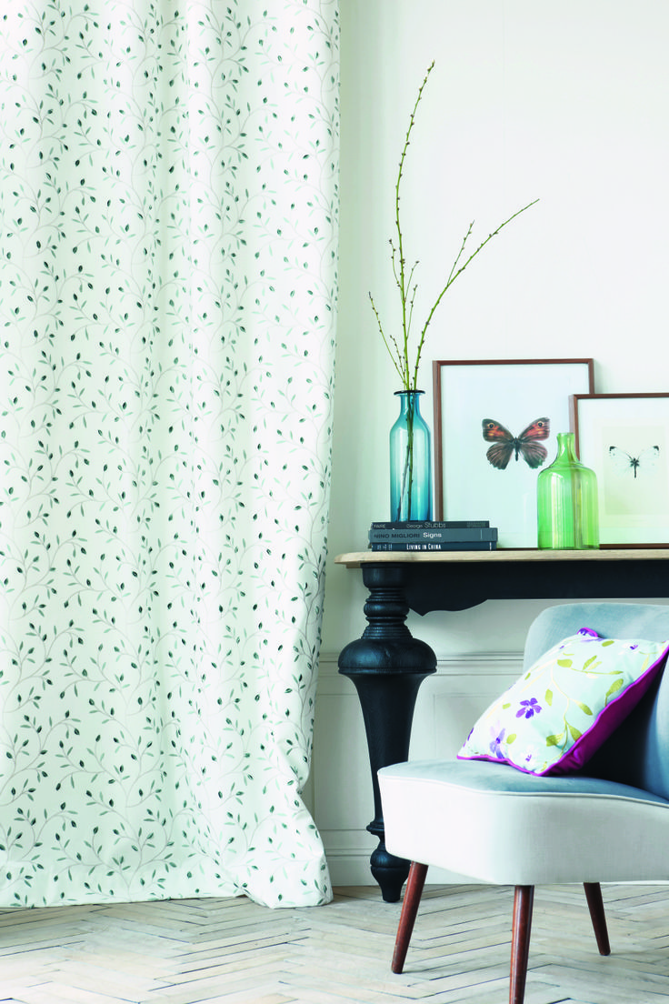 Woven with #cotton and #polyester, the #patterns focus on #spring time and #floral designs. Featuring #embroidered #cottons, the fresh and welcoming #fabrics help to create a #summer feeling within any #home. #Fabrics by Alchime Camengo , #Goodrich