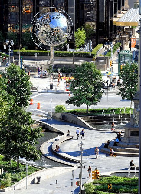 Columbus Circle, New York - this is my walk to and from work - goodnight :)