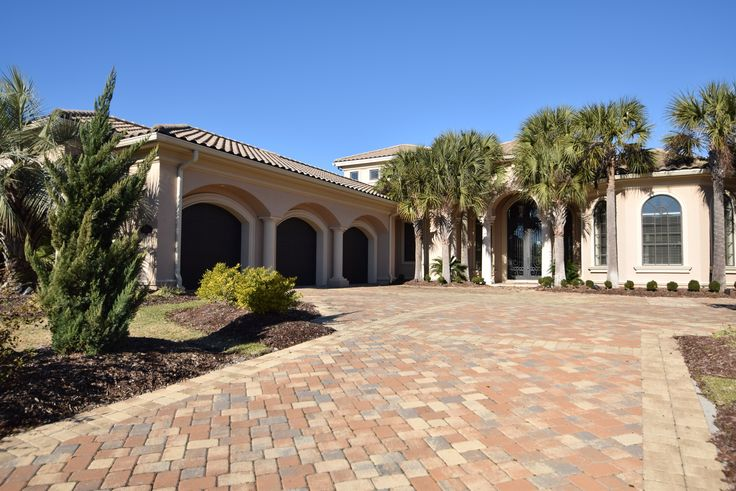 3 car garage mediterranean style luxury home myrtle for 3 car garage house for sale