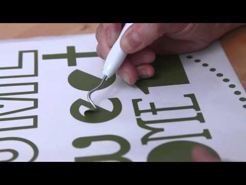 Cricut Explore: Cutting & Applying Vinyl - YouTube