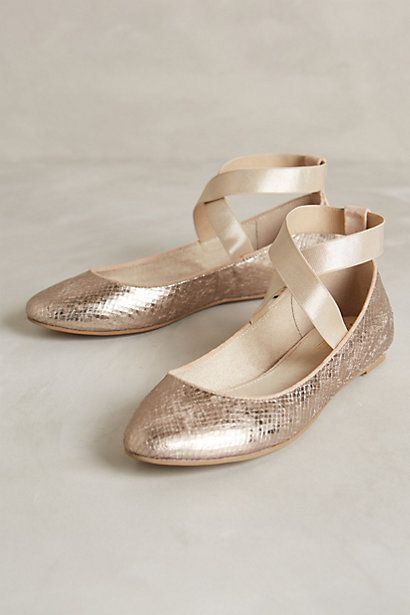 Rose gold flats #anthrofave http://rstyle.me/n/qgzien2bn
