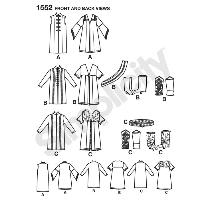 men's medieval sleeveless or long sleeved tunic can be made with buttons or   laces down the front. the cloak has sleeve and collar variations. also comes with sash, belt and boot   tops.<p>