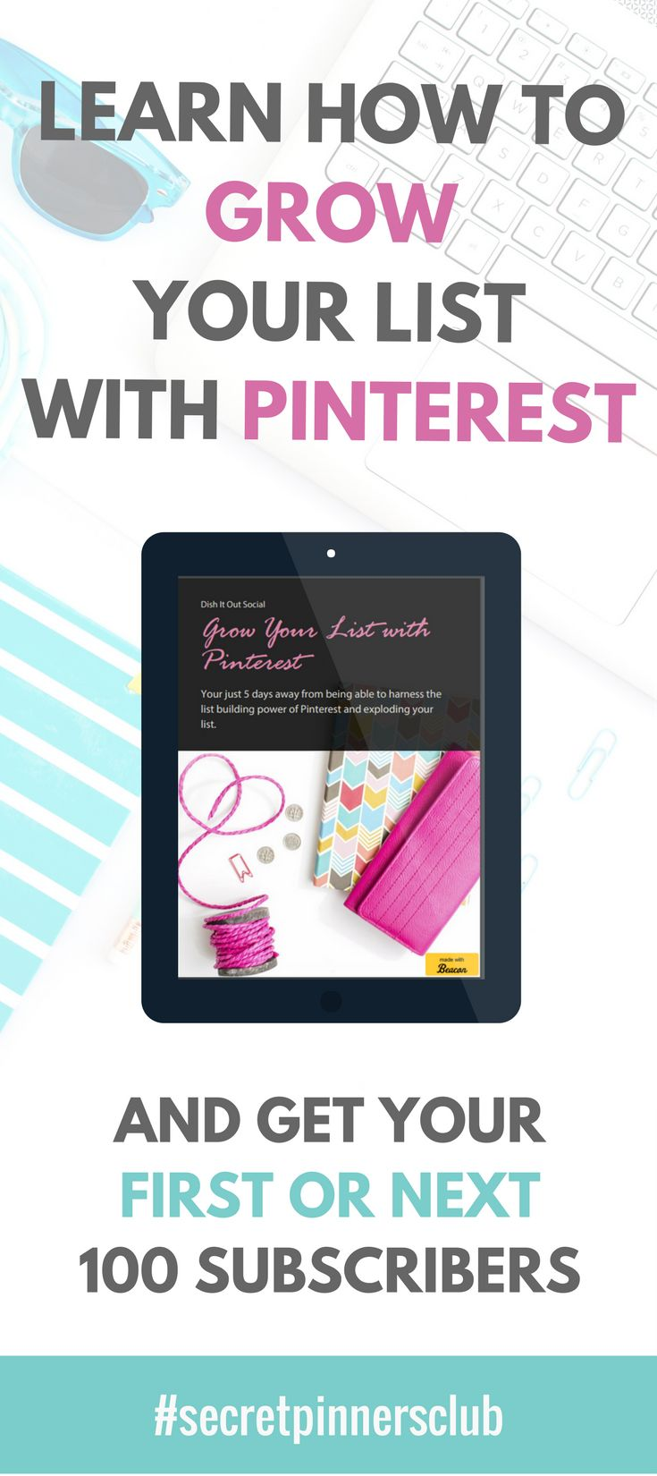 Are you struggling to grow your email list? Grab my new e-book that will show you the steps you need to take in order to start growing your list with Pinterest. email marketing, how to use pinterest, grow your email list, lead magnets, pinterest ebook, grow your list with Pinterest.