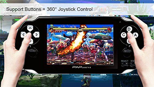 """awesome Handheld Game Console , 650 Classic Games 4.3"""" 64 Bit Portable Game Console PAP-GametaII Support GBA / GBC / SEGA / NES / SFC / NEOGEO - Black"""