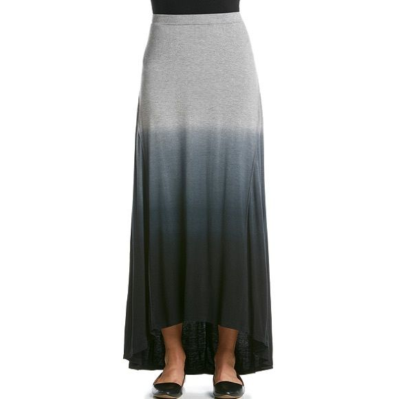 SALEGrey Dip Dye Hi Low Skirt - NWT Casual and cute, this hi low hem maxi skirt from Cable & Gauge features a trendy dip dye pattern and stretch waistband for added comfort.  •Featured in grey •Stretch waistband •Below the knee •Hi low hem •Dip dye pattern •Cotton Cable & Gauge Skirts High Low