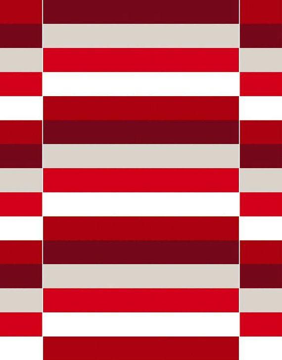 Fabric - ARVIDSSONS – Lidingö - Cotton canvas fabric - Heavy fabric - Geometrical print - Half meter / Half yard