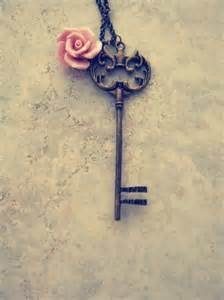 vintage keys with a rose