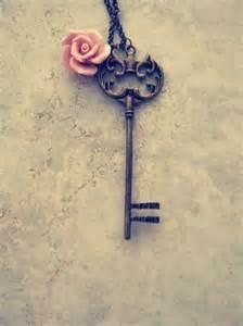 vintage keys with a rose
