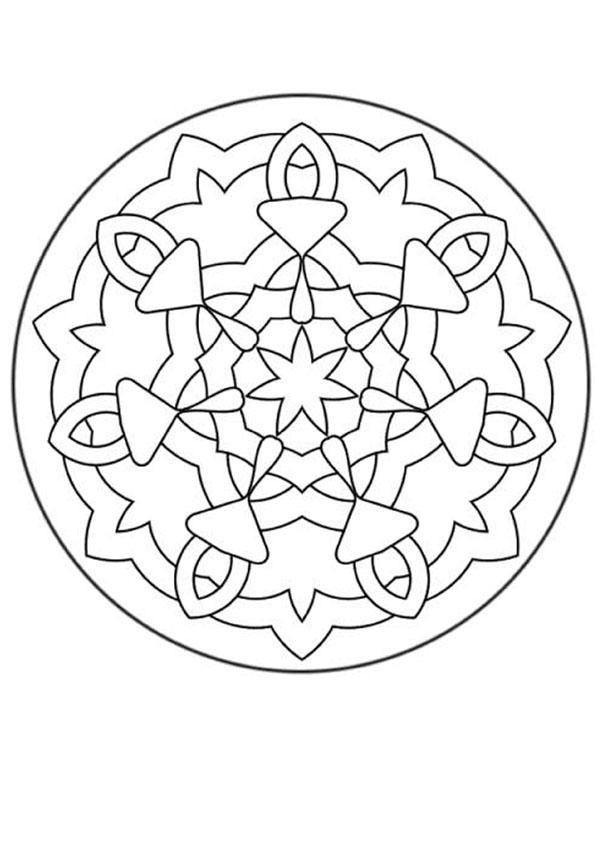 Dibujo para colorear : Mandala Rosetón medieval