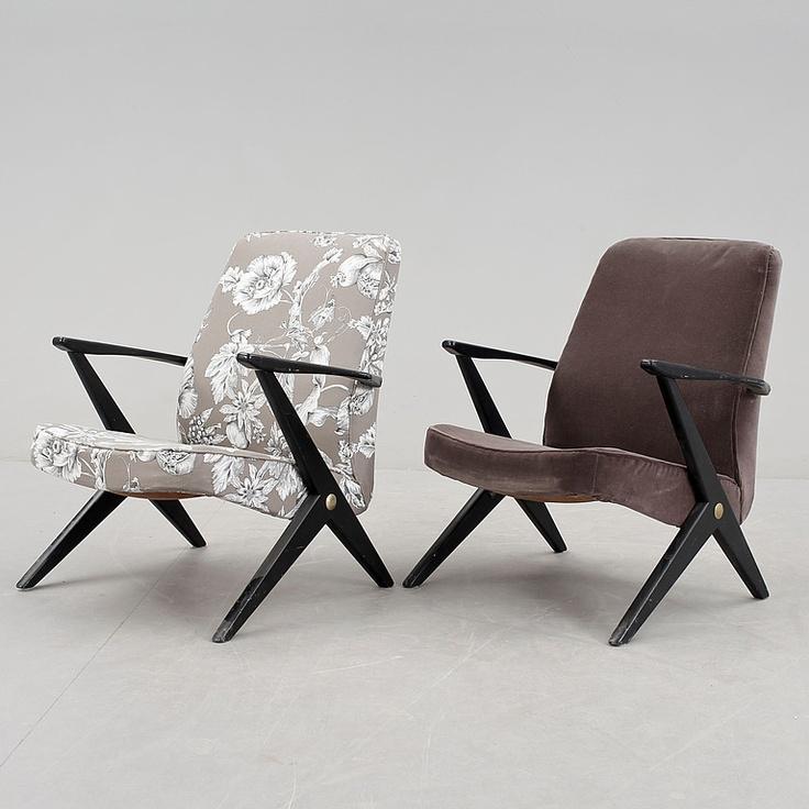 Armchairs Bengt Ruda For NK 1950s Design HistoryRetro