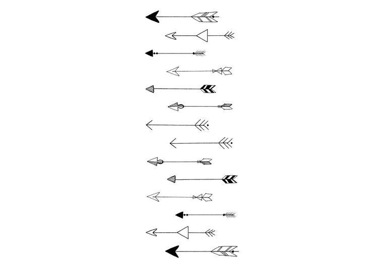Tatouages de flèche minimale par LionelAndLavender sur Etsy