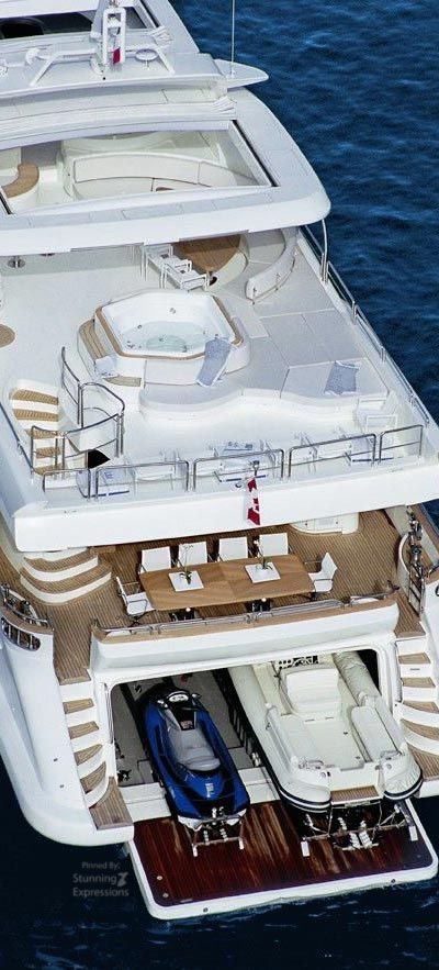 Luxury Large White Yacht.