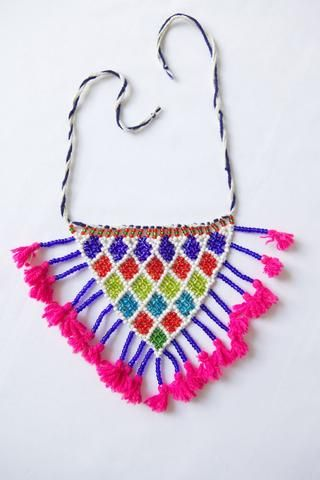 Kalbelia Gypsy Necklace. Hand Made and Fair Trade.  http://amberskies.com.au/collections/frontpage/products/kalbelia-gypsy-necklace-5