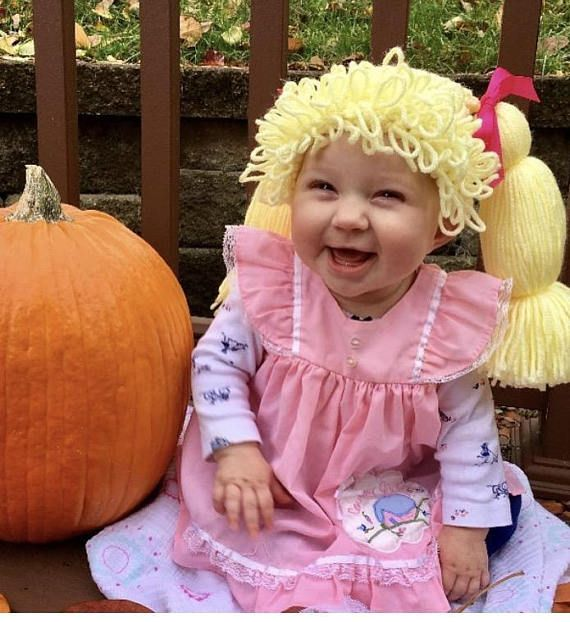 Cabbage Patch Costume Cabbage Patch Kid Wig Baby costume