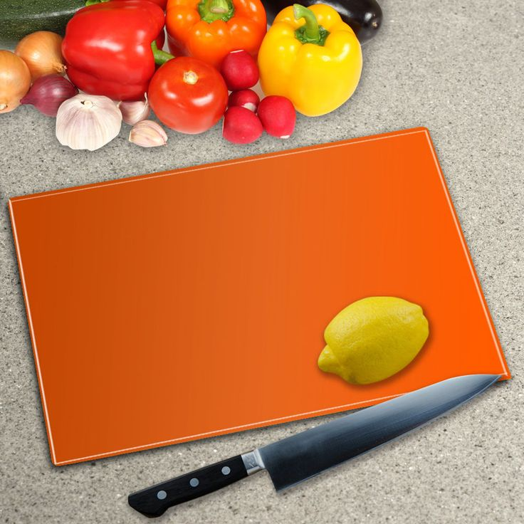 Orange Toughened Glass Worktop Saver Chopping Board in Home, Furniture & DIY, Cookware, Dining & Bar, Food Preparation & Tools | eBay!