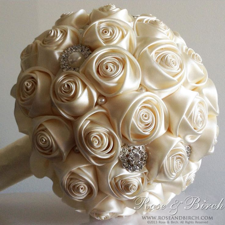 146 best kanzashi wedding bouquet images on pinterest for How are blue roses made