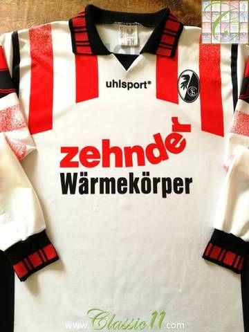 Official Uhlsport SC Freiburg away long sleeve football shirt from the 1995/1996 season.