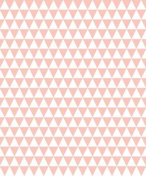 papier peint triangle rose déco chambre enfant spoonflower babayaga magazine